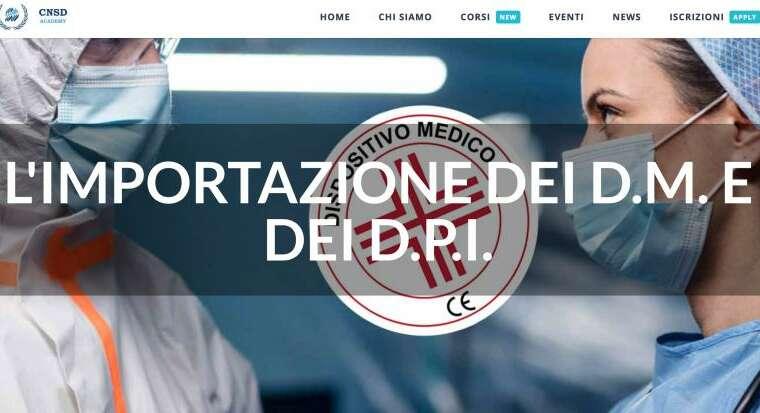 Lezione FAD per CNSD in tema di import DPI e dispositivi medici